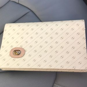 Vintage GG clutch. 7 inch long, 7 inch in height.
